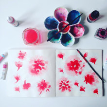 Diseño de patrones para pañuelos de seda. Um projeto de Design, Design de acessórios, Moda, Pintura e Design de produtos de Mónica Muñoz Hernández - 10.03.2016