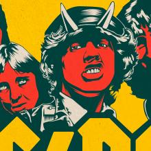AC/DC Tribute. Un progetto di Design, Illustrazione, Direzione artistica, Belle arti , e Graphic Design di Pau Juárez León - 17.03.2016