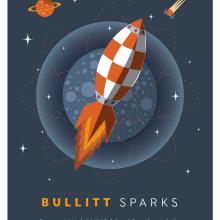 Cartel BULLITT. Um projeto de Design gráfico e Ilustração de Xavier Calvet Sabala - 29.03.2016