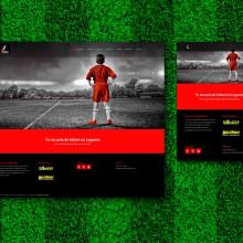 Diseño Web para Escuela de fútbol Dbase. Um projeto de Desenvolvimento Web e Web design de Diana Creativa - 05.04.2016