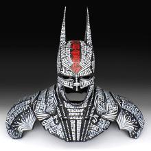 Batman 75  |  Busto caligráfico. Un proyecto de Caligrafía de GM Meave - 18.04.2016