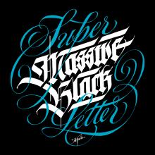 T-shirts caligráficas por Meave. Un proyecto de Caligrafía de GM Meave - 18.04.2016