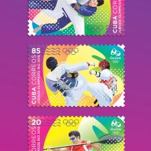 Juegos Olímpicos Rio 2016. Sello postal. Un proyecto de Ilustración y Diseño gráfico de Roberto Roiz - 14.04.2016
