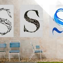 Tipografía: Letra capitular,- diseño y desarrollo.. A Design, Crafts, Fine Art, Graphic Design, T, pograph, Calligraph, and Street Art project by Solveiga - 09.30.2014