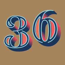 36 Days of Type - 2016. A Grafikdesign, T und pografie project by BlueTypo - 07.05.2016