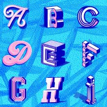 36 Days of type - 3rd Edition. A Design, Kunstleitung, Grafikdesign, T, pografie, Schrift und Kalligrafie project by Eduardo Dosuá - 09.05.2016