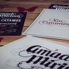 Diseño Invitaciones de Boda Miriam & Amado. Um projeto de Design gráfico e Tipografia de Sara Palacino Suelves - 26.05.2016