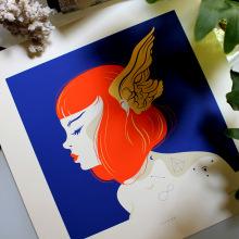 Cilene (Serigrafía a 4 Tintas).. Un progetto di Illustrazione di Violeta Hernández - 06.06.2016