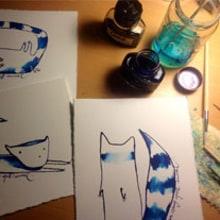 Estranys animals. Un proyecto de Bellas Artes e Ilustración de Silvia Sanmiquel - 28.12.2013