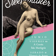 Sleepwalker Poster. A Music, Audio, Graphic Design, and Collage project by Dani Cambeiro - 06.06.2016