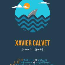 Cartel gira XAVIER CALVET. Um projeto de Design gráfico e Ilustração de Xavier Calvet Sabala - 14.06.2016