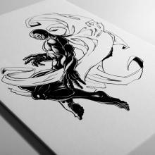 Blue Demon. Un proyecto de Ilustración, Bellas Artes y Cómic de Fito Barraza - 16.06.2016