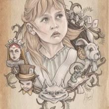 Alicia. Un proyecto de Ilustración, Dirección de arte, Diseño de personajes, Bellas Artes y Pintura de Fito Barraza - 20.06.2016
