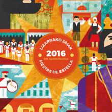 CARTEL FINALISTA - Fiestas de Estella 2016. A Design, Illustration, and Graphic Design project by Concepción Domingo Ragel - 06.23.2016