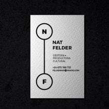 Tarjeta de visita para Nat Felder. Um projeto de Br e ing e Identidade de Diana Creativa - 15.06.2016
