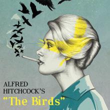 Poster 'The Birds'. Um projeto de Ilustração de Laura Baena - 17.01.2016