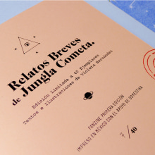 Fanzine: Relatos Cortos de Jungla Cometa.. Un progetto di Design, Illustrazione, Artigianato, Progettazione editoriale, Graphic Design , e Serigrafia di Violeta Hernández - 29.06.2016