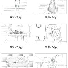 """Storyboard for Playstation4 """"April´s fool"""". Un proyecto de Ilustración, Cine, vídeo, televisión y Diseño gráfico de Raul Viera - 05.07.2016"""