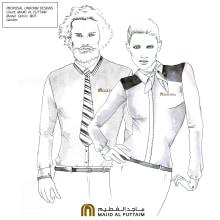Uniforms for Majid Al Futtaim. Un proyecto de Ilustración, Moda y Redes Sociales de Raul Viera - 05.07.2016