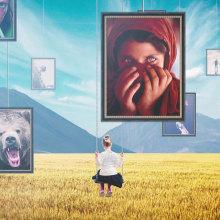 National Geographic Channel Idents. Un proyecto de Animación, Collage y Televisión de Joseba Elorza - 06.07.2016