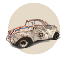 TV & Movie Cars. Un proyecto de Ilustración, Dirección de arte y Diseño de producto de Ibai Eizaguirre Sardon - 18.07.2016