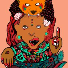 Tótem precolombino. Un progetto di Progettazione editoriale e Illustrazione di Raquel Requejo - 06.08.2016