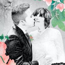 Retrato de boda (encargo). Un proyecto de Ilustración, Dirección de arte y Bellas Artes de Lucía Paniagua - 07.08.2016