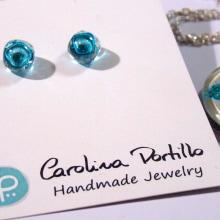 Recycled Glass Jewelry by Carolina Portillo. Un progetto di Artigianato, Design di gioielli , e Product Design di Emilia Gomez - 16.08.2016