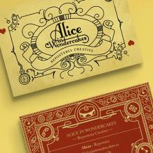 Alice in Wondercakes | Identidad. Un proyecto de Diseño, Ilustración, Br, ing e Identidad y Diseño gráfico de Felix Nieto - 21.08.2016