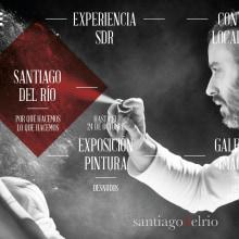 Santiagodelrío - Diseño y desarrollo web. Un proyecto de Motion Graphics, Dirección de arte, Consultoría creativa, Gestión del diseño, Diseño Web y Desarrollo Web de Juan Megías Alonso - 22.08.2016