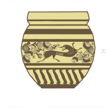 Decoración vasos cerámicos. Un proyecto de Artesanía, Diseño de producto e Ilustración de Alejandro Fuentes Alonso - 15.07.2016