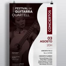 Cartel Festival de Guitarra . Un proyecto de Br, ing e Identidad y Diseño gráfico de Chary Esteve Vargas - 16.06.2016
