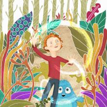 Portada libro (Doodles Lanhorn and The Quest to Save Inner Earth). Un proyecto de Ilustración de Albert Pinilla Ilustrador - 10.11.2015