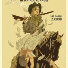 Cartel para concierto de Pajaro. A Design, Illustration und Musik und Audio project by Ivan Retamas - 28.09.2016