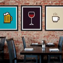 Icon Prints: Drinks Series. Um projeto de Design, Ilustração, Design gráfico e Design de produtos de Raquel Catalan - 15.04.2015
