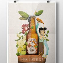 Mi Proyecto del curso Ilustración exprés con Illustrator y Photoshop. A Illustration und Grafikdesign project by Adrian Bouso Parga - 08.10.2016