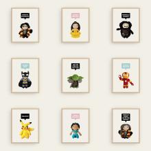 Mindundia: Amigurumi Prints. Um projeto de Ilustração, Design de personagens, Artesanato, Design gráfico, Design de brinquedos e Comic de Raquel Catalan - 26.10.2016