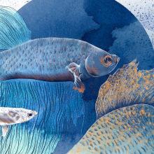 Blue Fish. Un proyecto de Ilustración, Dirección de arte y Bellas Artes de Lucía Paniagua - 13.11.2016
