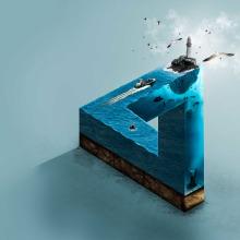 The impossible sea aplicado con elementos de Ecuador Ayangue. A Design, and Art Direction project by Jorge Soriano - 11.13.2016