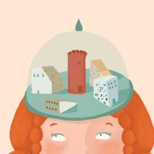 Cartel de teatro. Un proyecto de Diseño gráfico e Ilustración de Justine Duhé - 28.11.2016