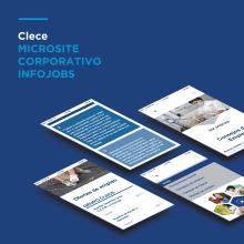 Microsite corporativa Infojobs para CLECE (GRUPO ACS). Un proyecto de Dirección de arte y Diseño Web de María Criado - 19.11.2014