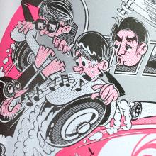 Oro Negro: 25 años sin Tino Casal. Un proyecto de Ilustración y Diseño de personajes de Ink Bad Company - 08.12.2016