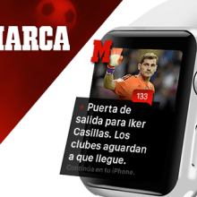 Apple watch UI | Marca. A UI / UX, Art Direction, Graphic Design, Information Architecture & Interactive Design project by Ana Rebeca Pérez - 09.25.2016