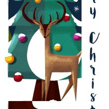 Merry Christmas. Un proyecto de Ilustración de Albert Pinilla Ilustrador - 03.01.2017