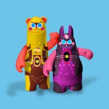 GAS VINYL TOY. Un proyecto de Ilustración, Diseño de personajes y Diseño de juguetes de Jhonny Núñez - 07.01.2017