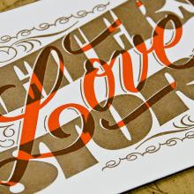 Letters Love Story – Letterpress Postcards. Un proyecto de Diseño de automoción, Diseño gráfico, Diseño de producto, Tipografía y Caligrafía de Yani&Guille - 09.01.2017