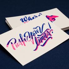 Yani & Guille – Letterpress Postcards. Un proyecto de Diseño, Diseño de automoción y Tipografía de Yani&Guille - 10.01.2017
