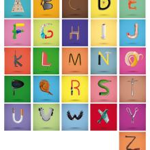 ABECEDARIO. Un proyecto de Diseño, Ilustración, Diseño editorial, Bellas Artes, Diseño gráfico, Tipografía y Escritura de Anabel Najar Colom - 10.01.2017