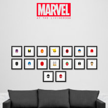 MARVEL at the livingroom. A Illustration project by Ruben Caja - 01.12.2017