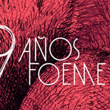 Gráficos y cartel para el noveno aniversario de la banda de rock Foeme. A Design & Illustration project by Hugo Mendoza - 08.10.2015